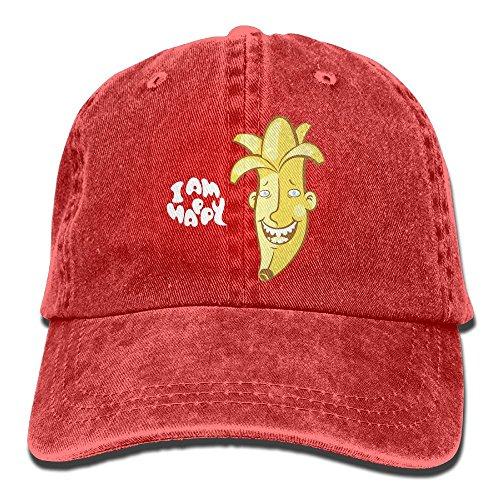 Banana Hammock Adult Mens Costumes (Male's Girl's Baseball Hat,Happy Banana Denim Hat For Men Female Unisex)