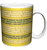 The Office Dwight Shrute Corporate Ladder (Dunder Mifflin) Cast Group Workplace Comedy TV Television Show Coffee (Tea, Cocoa) Mug, 11 Ounce