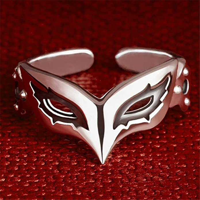 chain 19.7-INCH free//s PERSONA5 the Animation JOKER Mask motif Silver pendant
