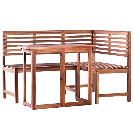Festnight Mobilier de Jardin 1 Table Pliable + 1 Banc d ...
