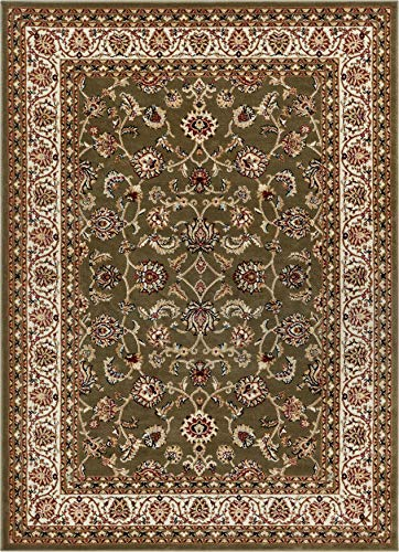Noble Sarouk Green Persian Floral Oriental Formal Traditional Area Rug 8x10 8x11 ( 7'10