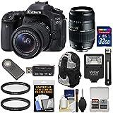 Canon EOS 80D Wi-Fi Digital SLR Camera & EF-S 18-55mm is STM Lens 70-300mm Lens + 32GB Card + Backpack + Flash + Kit