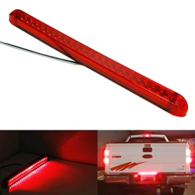 iJDMTOY 17-Inch Trunk Tailgate Red LED Tail/Brake Light Bar Compatible with Ford GMC Chevy Dodge Toyota Nissan Honda Truck: Automotive