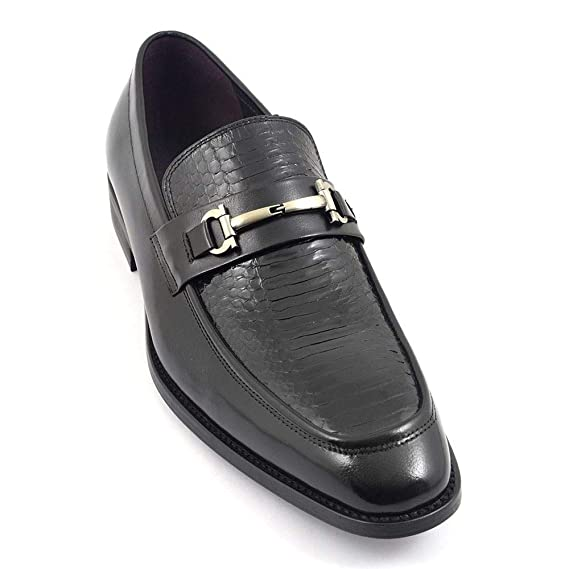 5f6cf3f6d93 Gucinari Patent Loafer Shoe  Amazon.co.uk  Clothing