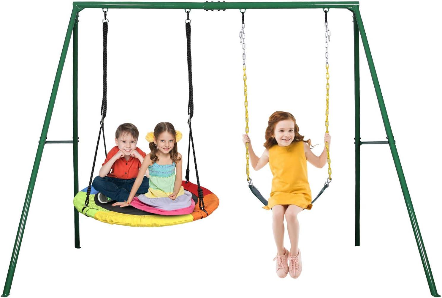 Trekassy 440lbs 2 Seat Swing Set