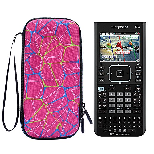 Travel Bag for TI Nspire CX CAS - MASiKEN Carry Case for Texas Instruments Nspire CX CAS Graphing Calculator, Texas Instruments, Casio, HP Graphing Calculator (Pink)
