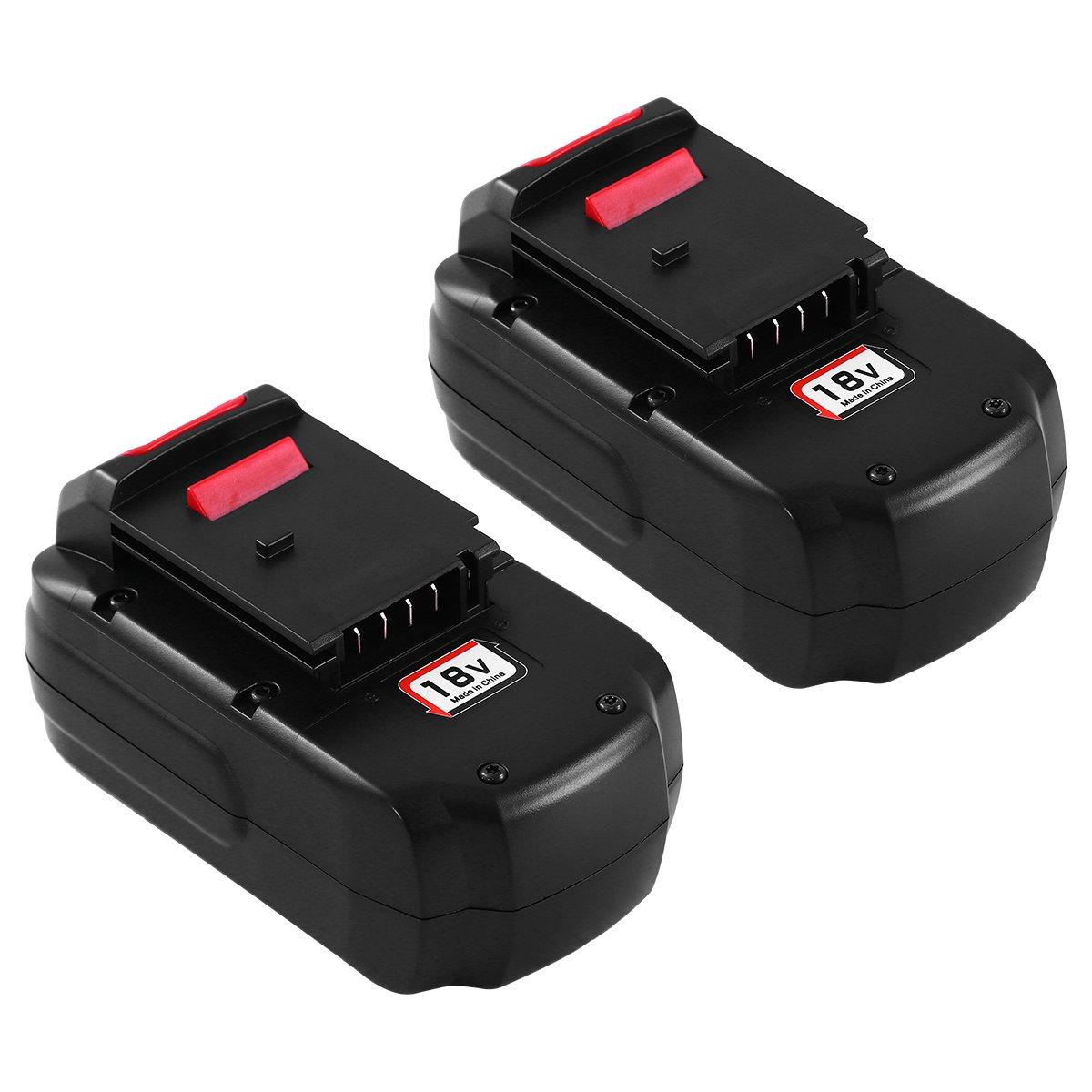 Replace for PC18B Porter Cable 18V Battery PCC489N NI-MH 3.0Ah PC188 PCMVC PCXMVC 2Packs Cordless Tools Batteries SUN POWER