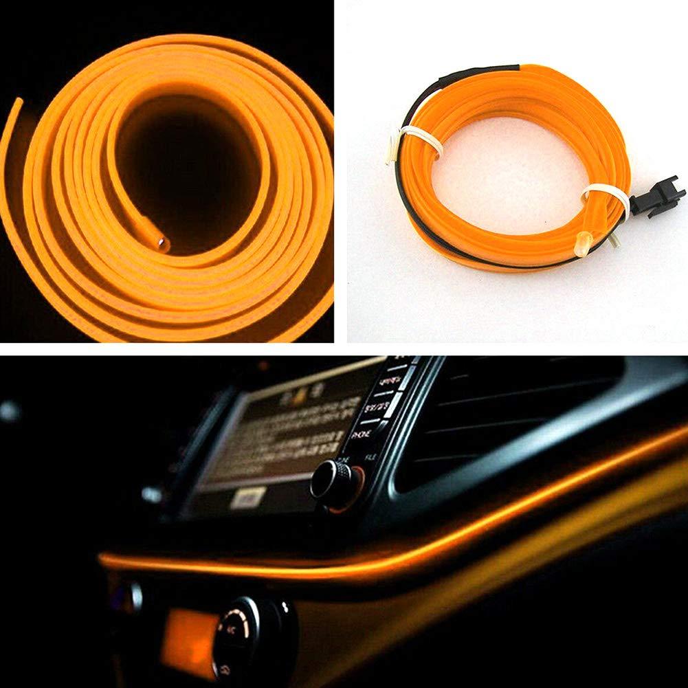 Luyao 4M bricolage voiture barre lumineuse int/érieure LED bande de lumi/ère de fibre atmosph/ère int/érieure contour l/éger accessoires de d/écoration de voiture
