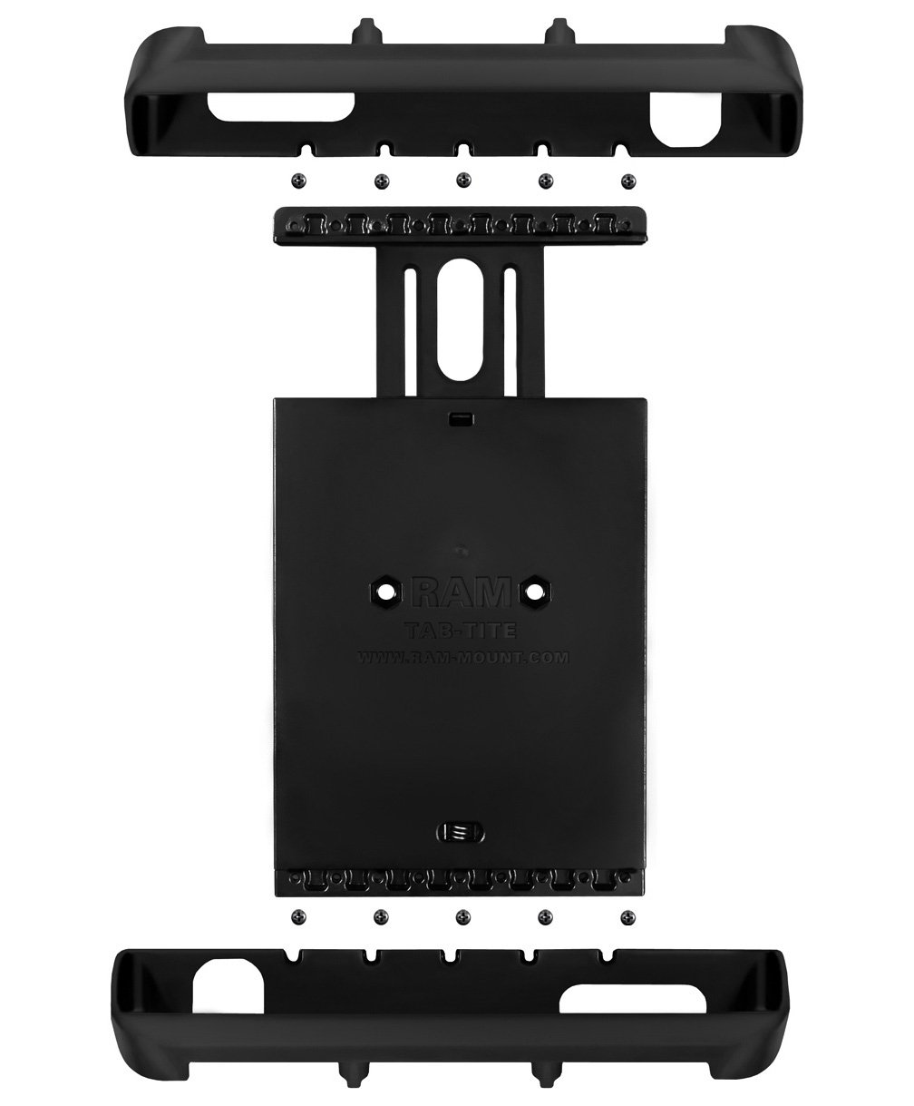 Ram Mount Tab-Tite Universal Clamping Cradle for 10-Inch Screen Tablets with Heavy Duty Cases Including The Apple iPad 4/3/2 (RAMHOLTAB8U)