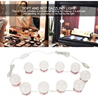 YouthLIKEWATER Makeup Mirror Vanity LED Light Bulbs Kit USB Charging Port Cosmetic Lighted Make Up Mirrors Bulb Verstelbare Brightness Lights Als afbeelding