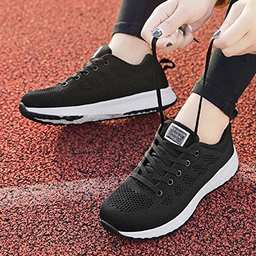 LILY999 Zapatillas de Deportivos de Running Para Mujer Gimnasia Ligero Sneakers Fitness Negro