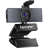 BIPOWER Cámara Web PC HD 1080p, Webcam USB con Microfono para Videollamadas, Conferencias Y Clases En Línea