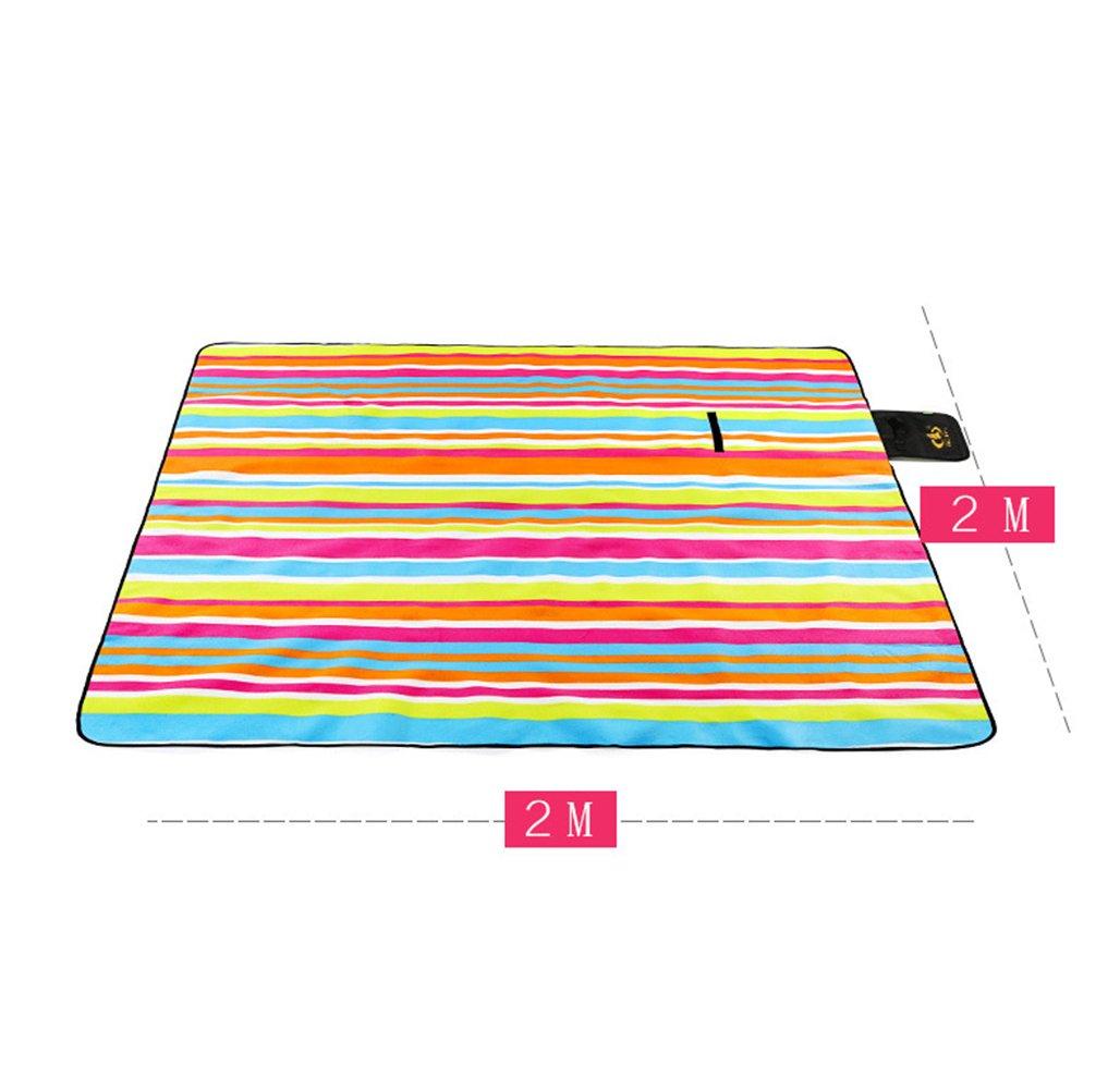 200 x 200cm Manta de para Picnic Alfombra Colchón para de Camping Playa Jardín Impermeable y Plegable 9c3b76