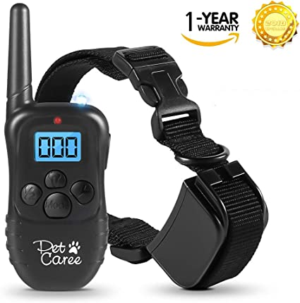 Dog Training Collar 100/% Rainproof Rechargeable Electronic Remote Dog Shock Collar 330 Yards with Beep//Vibrating//Shock Electric E-Collar