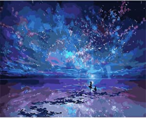 CHUNXIA DIY Oil Paint by Numbers for Adults and Kids,16x20 Inch Creative Enterntainment Relax Canvas Painting Diamant Dans le ciel ZTY002-9437