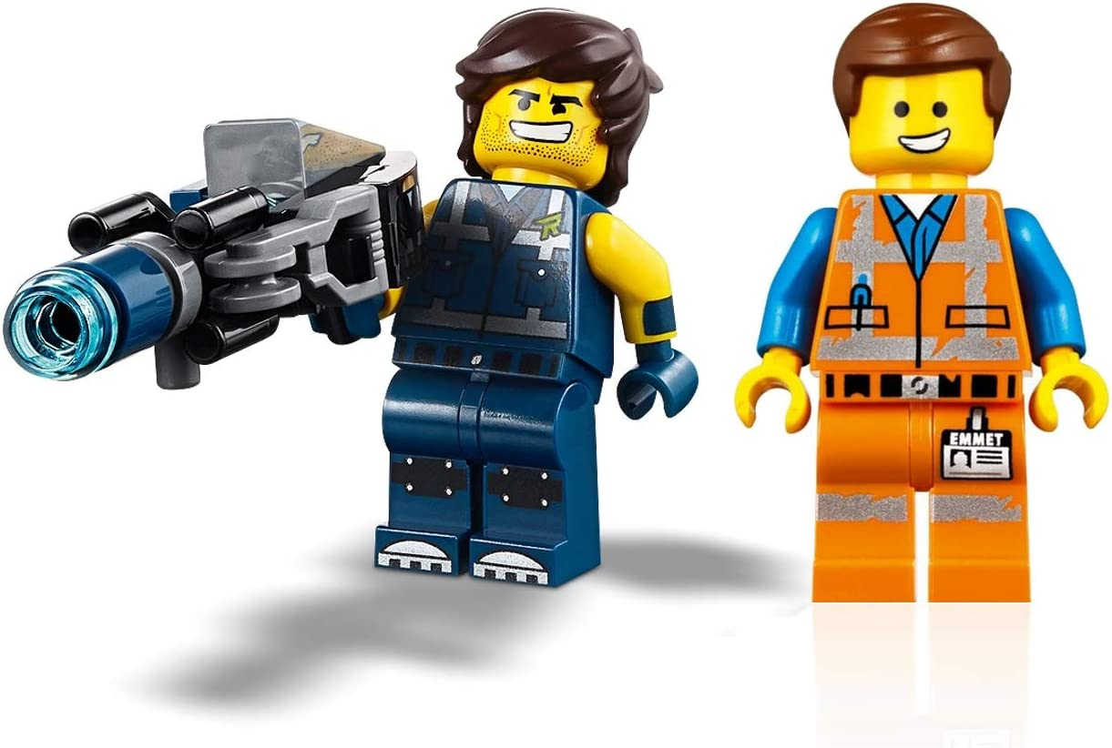 Amazon Com Lego The Movie 2 Minifigure Combo Emmet And Rex Dangervest With Blaster Toys Games