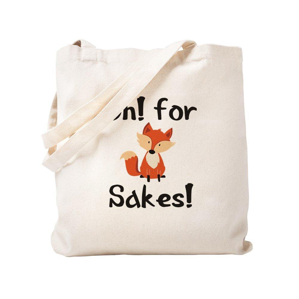 CafePress – Oh 。For Fox Sakes 。 – ナチュラルキャンバストートバッグ、布ショッピングバッグ S ベージュ 1614356795DECC2 B0773QXT9Z  S