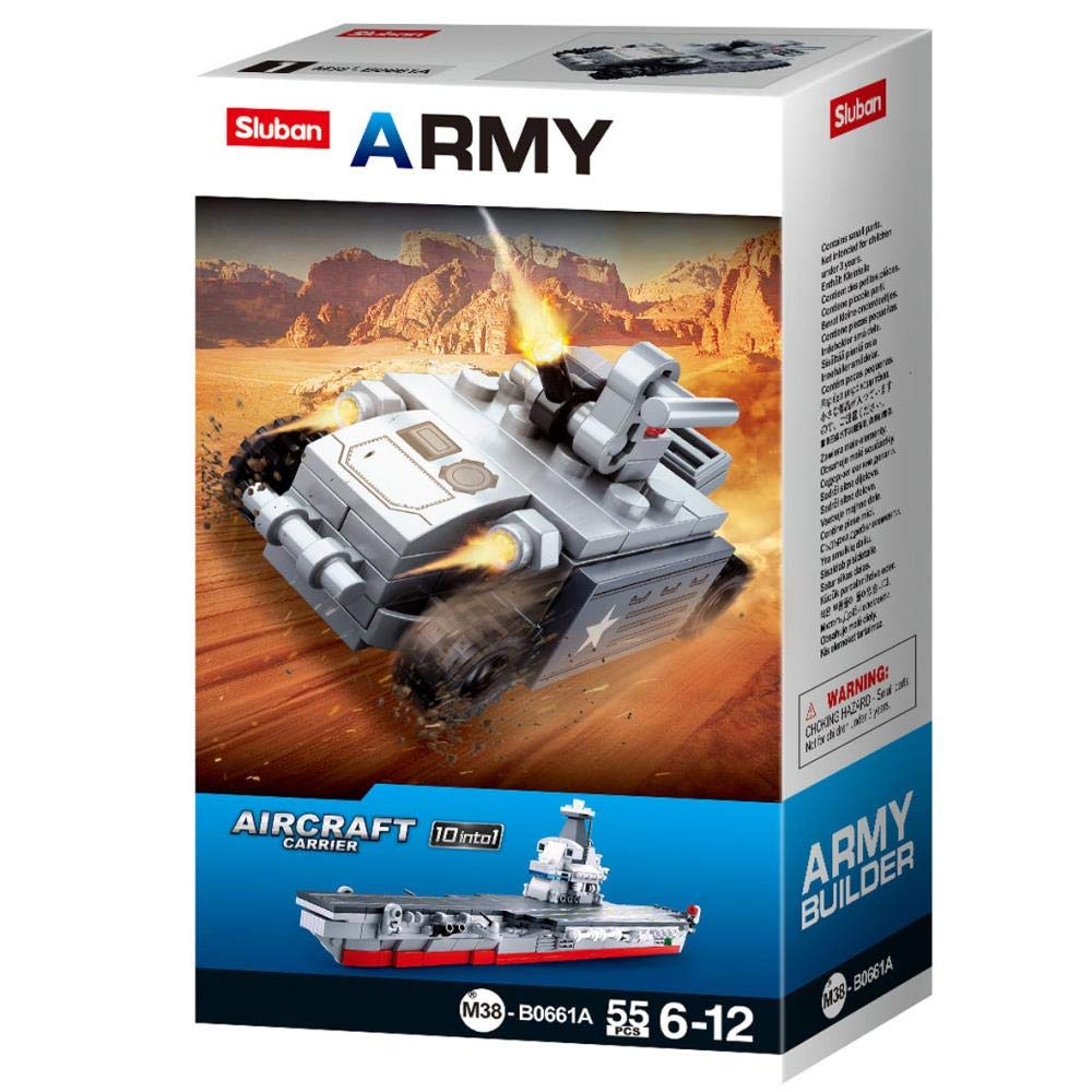 343 Pieces Sluban Merkava Tank WW2 Military Bricks Building Blocks Toy