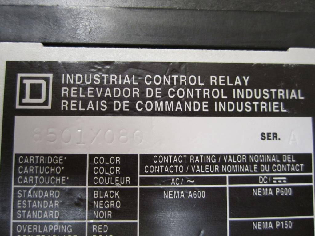 SQUARE D 8501X080 Control Relay: Coaxial Relays: Amazon.com: Industrial & Scientific