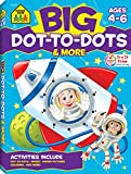 School Zone - Big Dot-to-Dots and More Workbook - Ages 4 to 6, Games, Puzzles, Focus, Logic, Sequencing, and Problem Solving (Big Get Ready Activity Workbook)