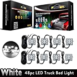 nissan frontier 2000 bed liner - Partsam Universal Waterproof White LED Truck Bed/Rear Work Box Lighting Kit Trunk Light for 1994-2010 Dodge Ram 1500 2500 3500