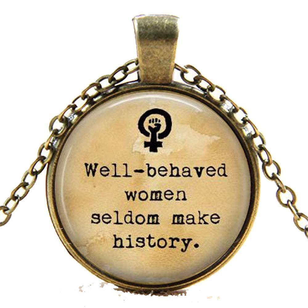 Collar o llavero de feminismo - Bien tallado para mujeres ...