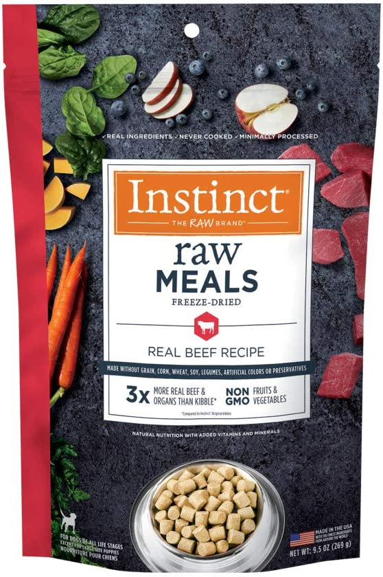 Instinct Freeze Dried Raw Meals Grain Free Recipe Dog Food