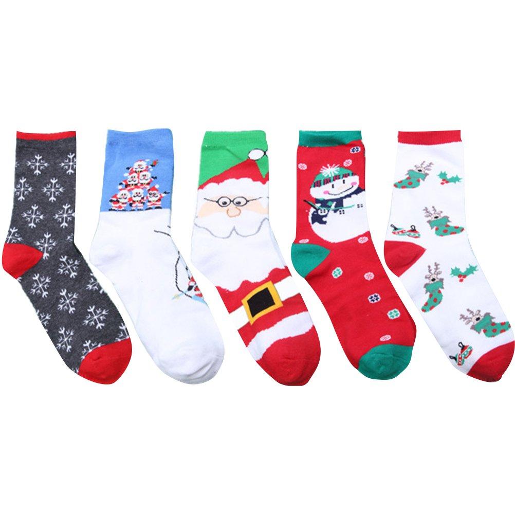 Tinksky Weihnachtssocken, bunte Baumwollschraubensocken ...