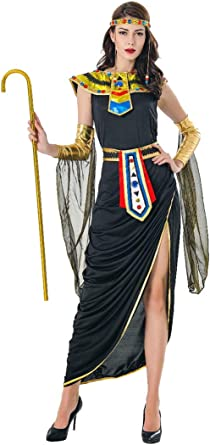 Amazon Com Honeystore Athena Greek Goddess Costume Cleopatra Costume Egyptian Queen Costume 7127 Clothing