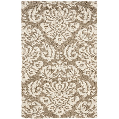 Safavieh Florida Shag Collection SG460-1311 Beige and Cream Area Rug (2'3