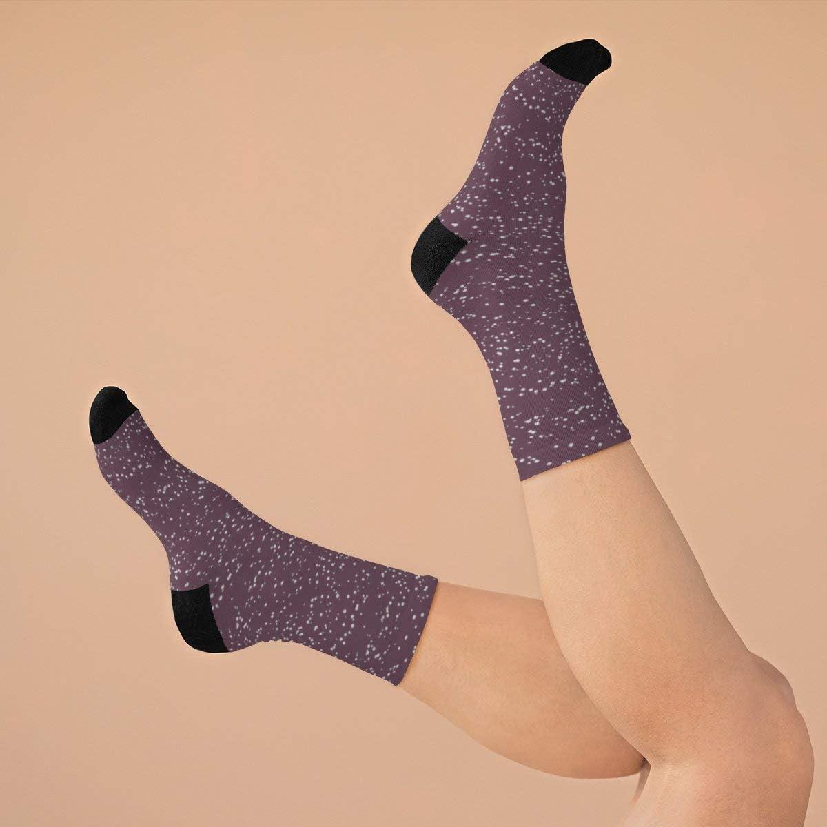 Snow Little Dots Cassis DTG Socks