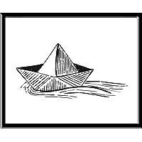 Barquito de Papel Boat Paper Boat Boys Boy Rule Kids Brothers Niños Hombres Funny Love Peace Quote Frase Blanco y Negro Cuadro decorativo Print Animales Regalo Arte Poster Cuadro Decorativo Art Wall Art Vintage Decor Home Decor Decoración Retro Hipster Cool Boys Room Cuarto Niños Children