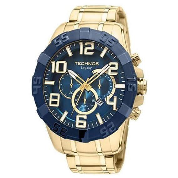 b64d854bd42 Relógio Technos Masculino Classic Legacy Cronografo Os20iq 4a - Dourado