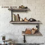 DIY Industrial Antique Wooden Wall Shelf, Water Pipe Designed Book Shelf