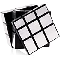CocoRio High Stability Stickerless Speed Cube Puzzle Toy (Silver Mirror Cube)