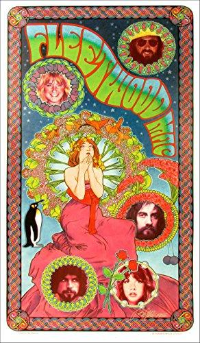 Fleetwood Mac Original Fan Poster New Litho Signed in Silver Ink Bob Masse
