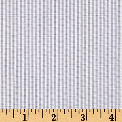 Benartex Contempo My Little Sunshine Pinstripe Light Grey Fabric by The Yard,