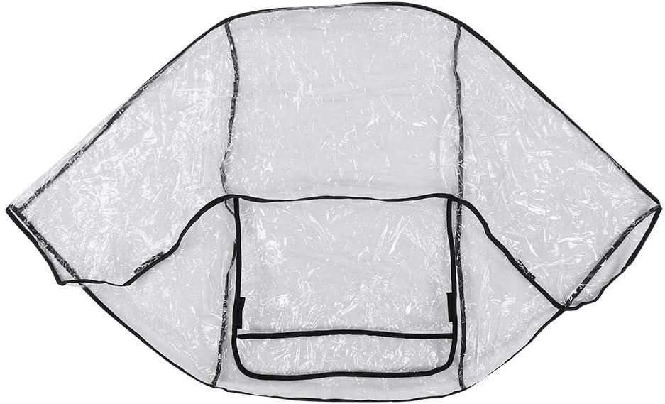 Atyhao Cubierta de Lluvia para Cochecito de beb/é Protector de PVC Transparente Resistente a la Intemperie