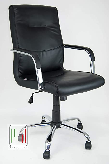 Stil Sedie Poltrona Ufficio ergonomica presidenziale in Ecopelle MOD Atene