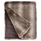 Fabulous Furs: Faux Fur Luxury Throw Blanket, Timber Wolf, Available in generous sizes 60''x60'', 60''x72'' and 60''x86'', by Donna Salyers