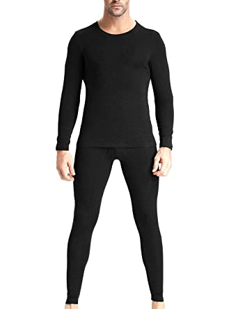 a7b3b3eda64 Mozzp Men s 2 PC Ultra Soft Long Johns Thermal Underwear Top and Bottom Set  (Small
