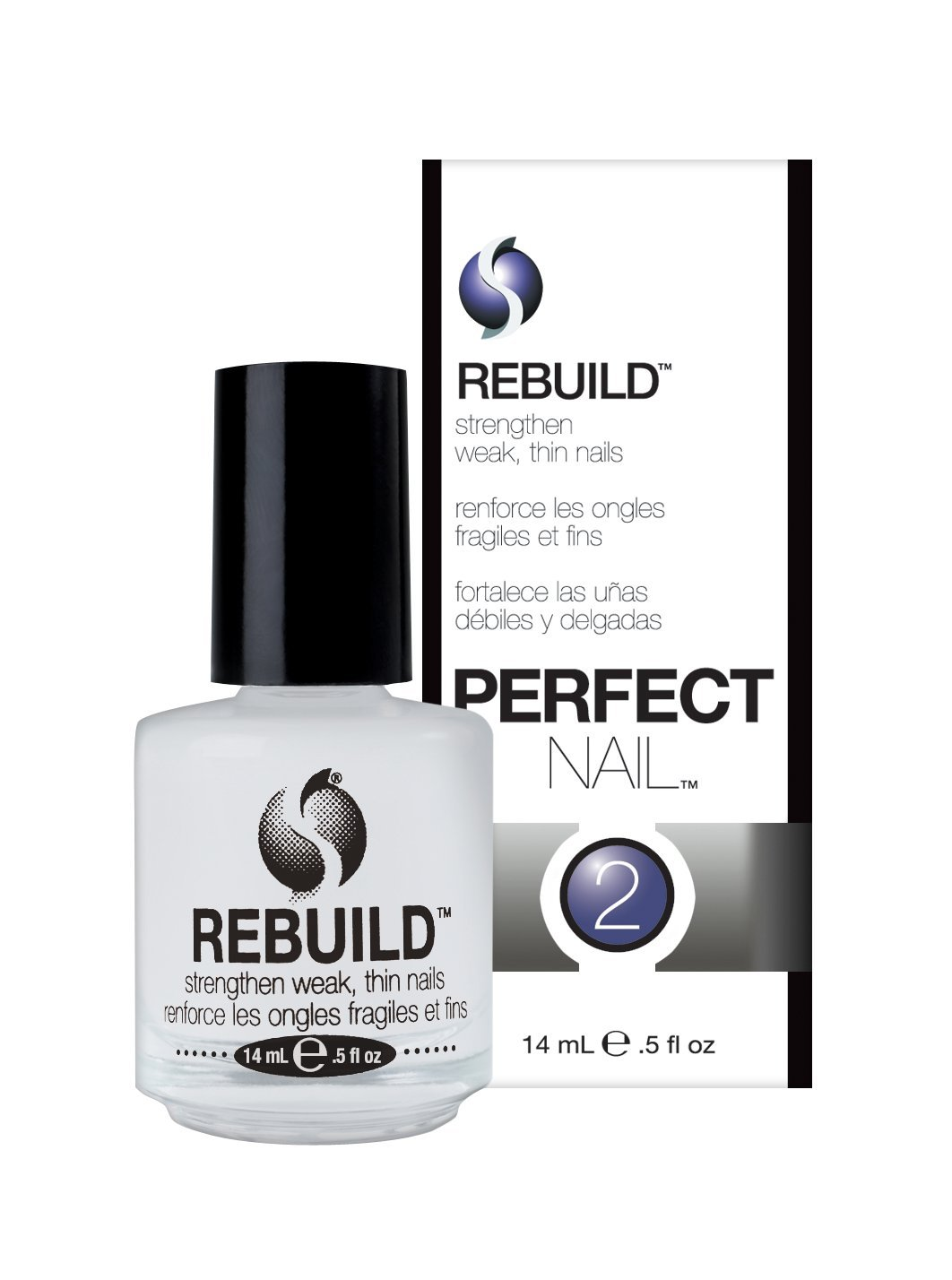 Seche Rebuild Nail Strengthener, Translucent, 14 Milliliters 83269