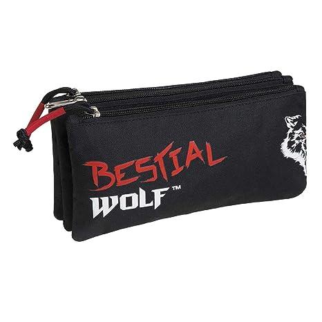 Busquets Estuche Escolar Triple Bestial Wolf by DIS2: Amazon ...