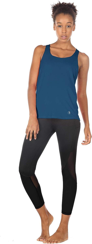 Fitness Yoga Tank Top icyzone Femme D/ébardeur de Sport 2 en 1 D/ébardeur sans Manches avec Soutien-Gorge int/égr/é