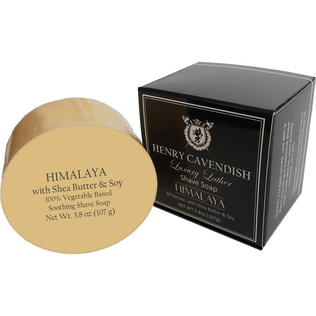 Henry Cavendish Himalaya shaving soap with shea Butter and coconut oil. 3.8 oz