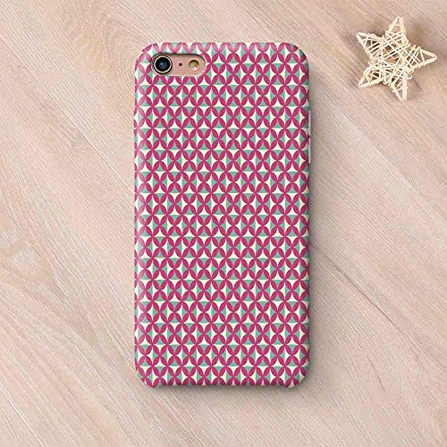 Victorian Custom Compatible with iPhone Case,Ancient Kitchen Tile Inspired Retro Floral Shapes Image Compatible with iPhone 6/6s,iPhone 6 Plus / 6s Plus