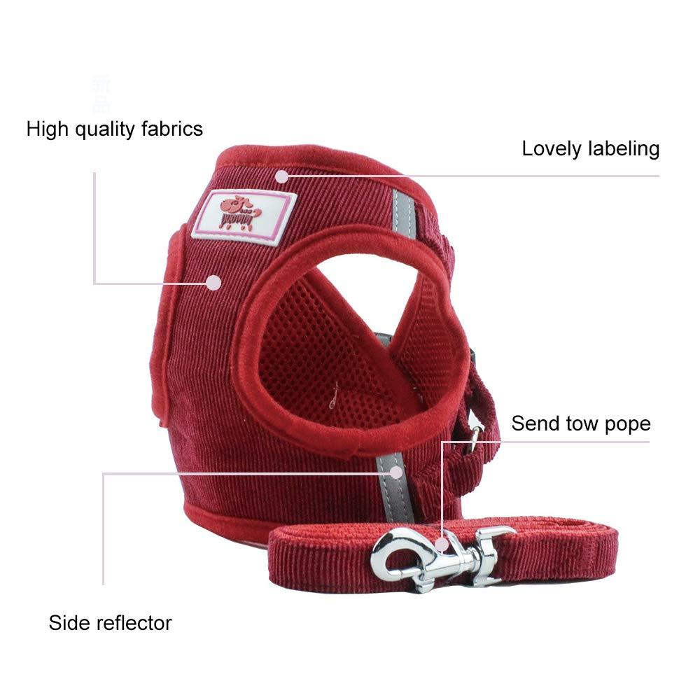 PET SPPTIES Tessuto di Maglia del Cane Cablaggio della Maglia Morbida Regolabile Confortevole per Cani Gatti e Cuccioli PS042 XL, Red