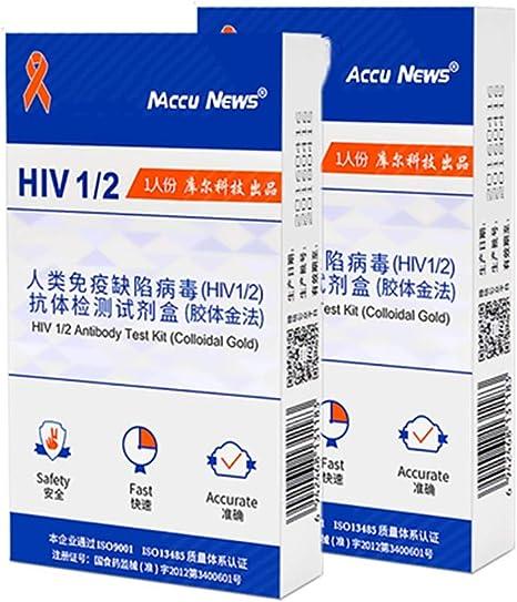 WSN Kit de Prueba de VIH, Pruebas realizadas por el Virus de inmunodeficiencia Humana en Sangre (VIH1 / 2) Detección rápida de Tres Hilos Detección temprana Detección automática del SIDA: Amazon.es: Deportes