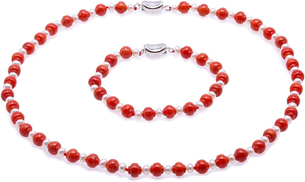 6 Pcs Natural Pink Coral Beads Carved Oval Shaped
