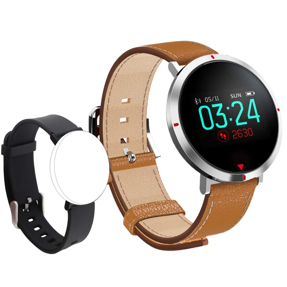maxtop Smart Watches for Women - Heart Rate Monitor Blood Pressure Sleep Monitor Fitness Tracker Compatible with Android and iOS - Brown by maxtop